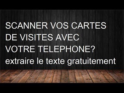Comment Scanner Des Cartes De Visite Sur Tlphone Android Et En Extraire Le Texte