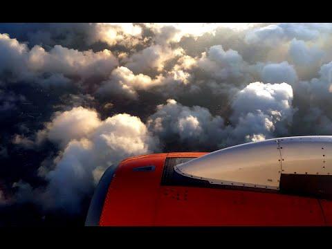 "Посадка в Махачкале ""Сухой Суперджет 100"" авиакомпания ""Азимут"" / ""Azimuth Airlines"", SSJ 100"