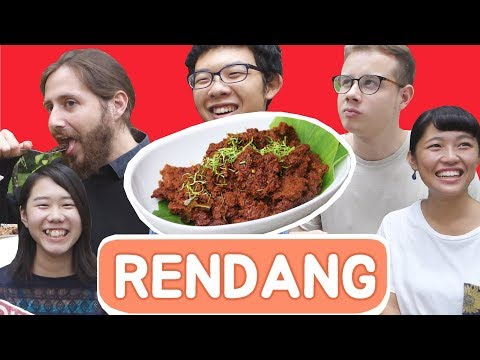 Cover Lagu UAJ_Reaksi Orang Asing Coba RENDANG !!!_ISS2017 HITSLAGU