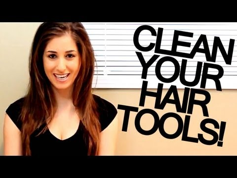 How to Clean Your Hair Tools! (Hair Dryer, Flat Iron & Curling Iron) Cleaning Ideas - Clean My Space