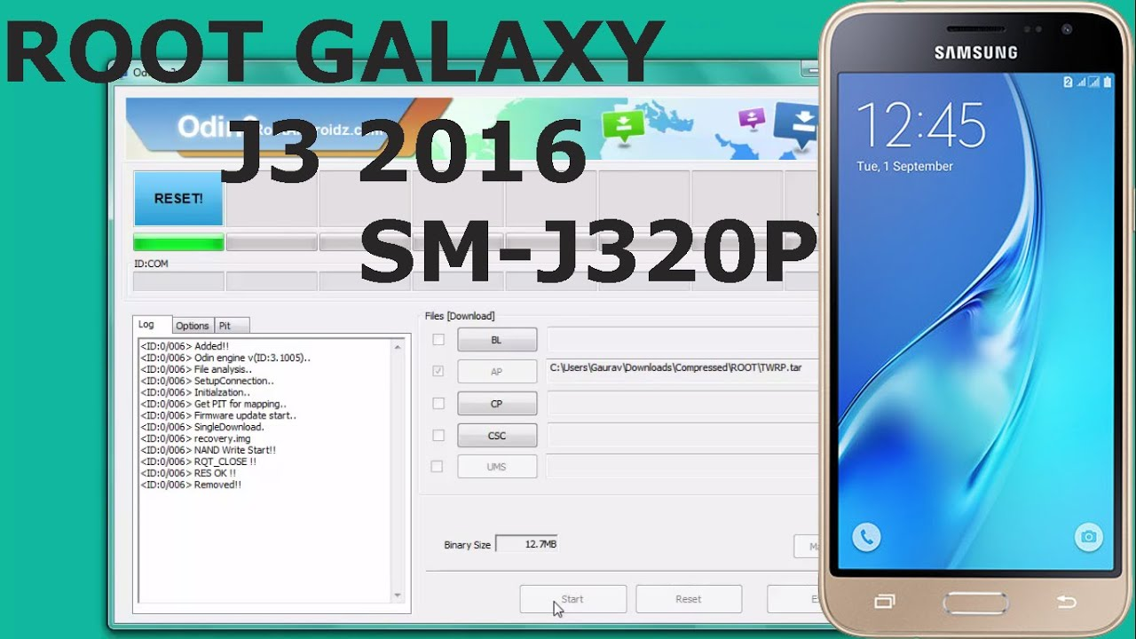 Root Galaxy J3 SM-J320P With Twrp Recovery & SuperSu | Galaxy J3 Permanent  Root