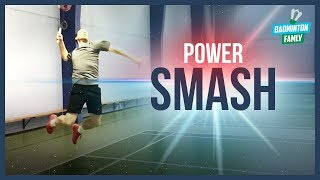 Badminton SMASH technique - smash harder