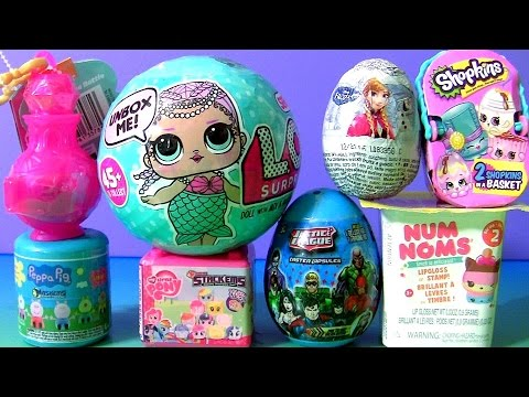 SHIMMER AND SHINE TOYS SURPRISES Disney Frozen Mashems Peppa Pig, Fashems Stackems NUM NOMS LOL