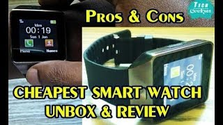Cheapest  Smart Watch -  Rs.600 - Unbox & Review - Pros & Cons | Tech Cookies
