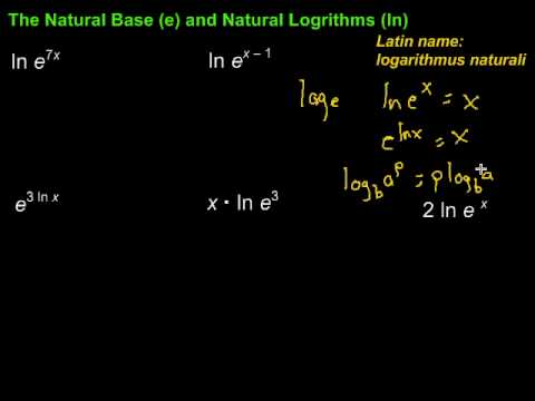 diff between log and ln relationship