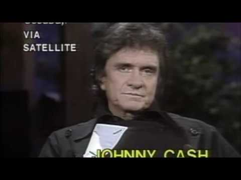 Johnny Cash talks about his drug use, his father's death, June Carter, and he sings for us!