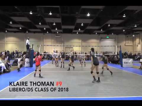 Klaire Thoman #9 Class of 2018 Libero/DS Momentous VB Club Dan O'Dell