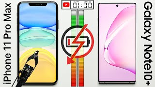 iPhone 11 Pro Max vs. Galaxy Note 10+ Battery Test