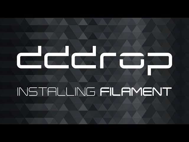 Installing filament on the dddrop 3D printer