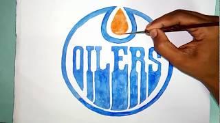 How to draw the Edmonton Oilers logo