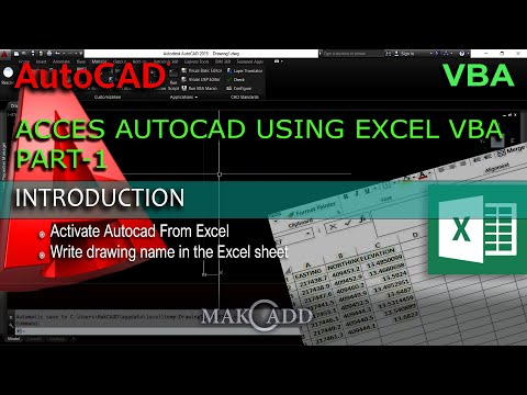 Access autocad using VBA in Excel