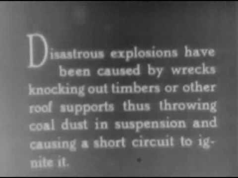 THE STORY OF A ROCK-DUSTED COAL MINE, Shows how rock dust is used to render coal dust nonexplosi...