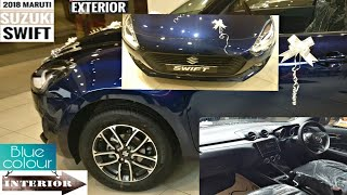 2018 New Maruti Swift Zxi Model Midnight Blue Colour Interior and Exterior Walkaround