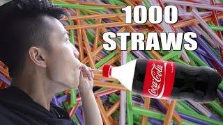 NTN - Ức Chế Uống  Coca Cola Với 1000 Ống Hút (Drinking coca cola by 1000 straws)