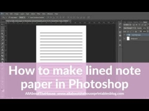 How To Make Lined Note Paper DIY Planner Insert Refills In Photoshop