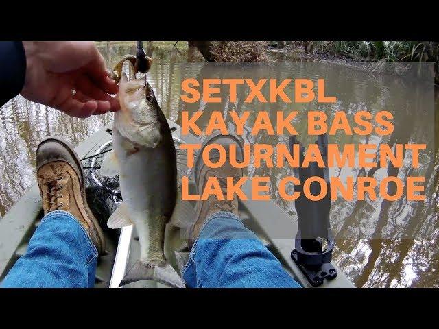 Kayak Bass Fishing Tournament | SETXKBL Round 3 | Lake Conroe - March 2019