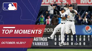Check Out 10 Moments From Around The Majors: 10/16/17