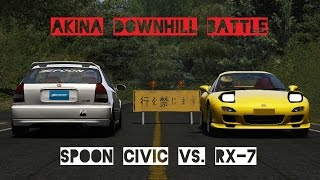 A Mazda RX-7 meets a very fast Spoon Honda Civic Type-R EK9 at Moun...