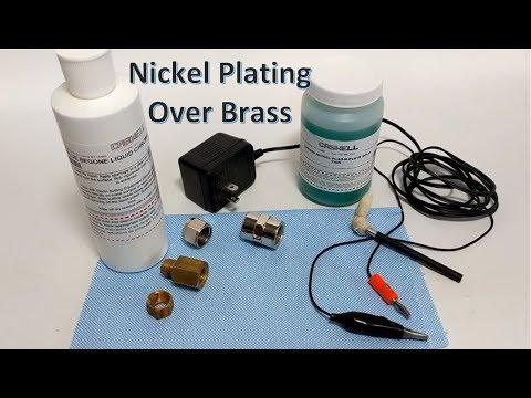 Nickel brush plating over brass with Caswell kit