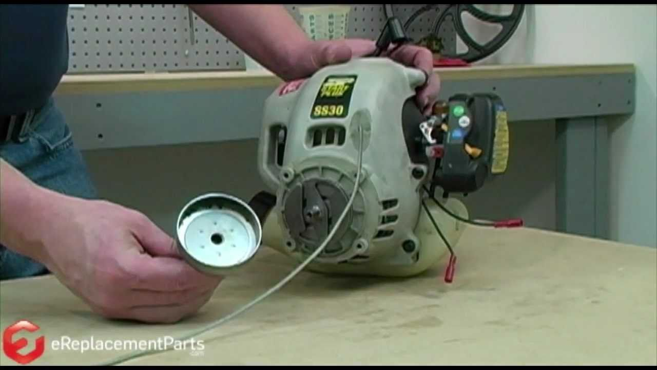 How to Fix the Starter on a Ryobi Trimmer - YouTube