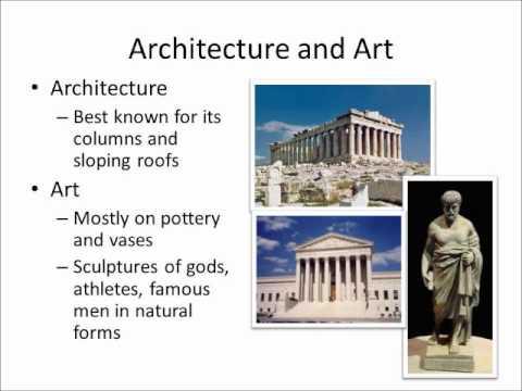 Greek Civilization Arts And Literature Youtube
