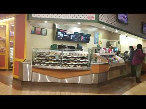 2019 Las Vegas Excalibur 2nd floor food court,restaurants and shops