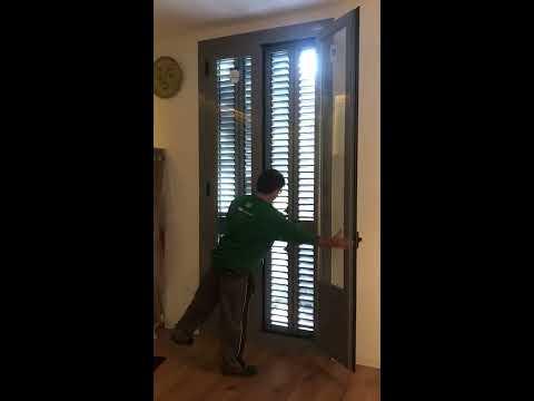 Puertas Y Persianas Mallorquinas De Aluminio Lacado Especial Gris Ral 7045