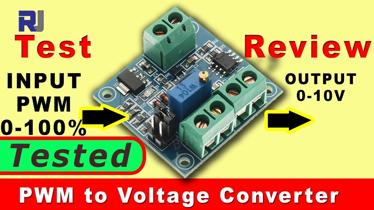 Convert Pwm To Voltage Using Ic Station Converter Review And Test Simple Dc For Digital Circuit By 555