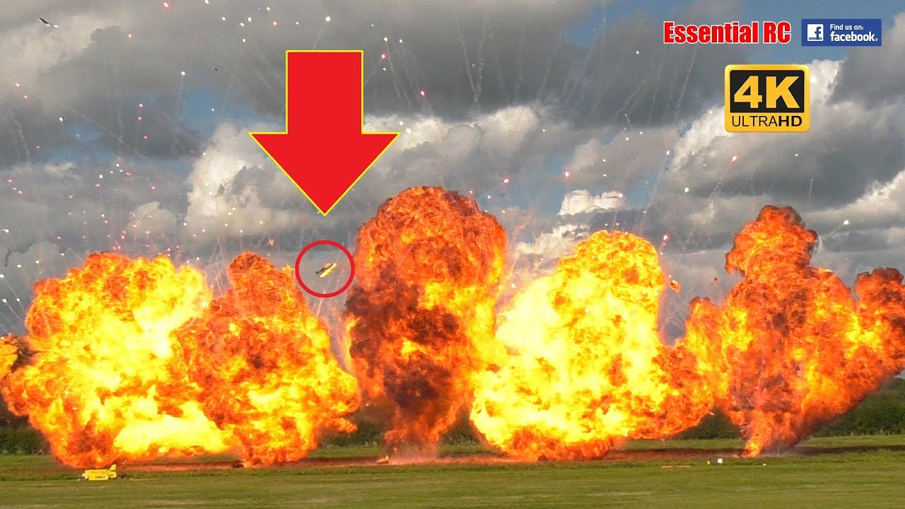 RC PLANES ON FIRE CRASHING and BIG EXPLOSIONS EPIC