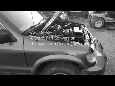 Kia Sportage - Electric Fan, A/C Delete, & Tranny Cooler