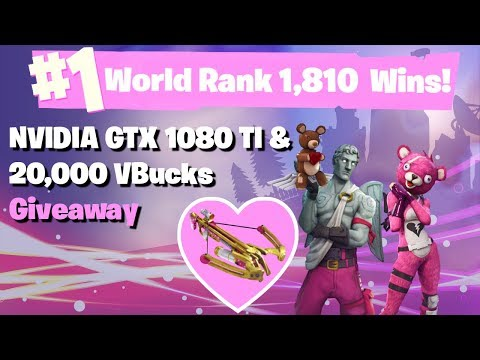 #1 World Ranked 1,810 Solo Wins - GTX 1080TI and 20,000 vbucks giveaway