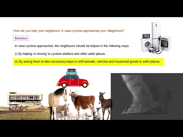 Wind Storm & Cyclone - Q3 - Helping neighbours in Cyclone - CBSE class 7th science