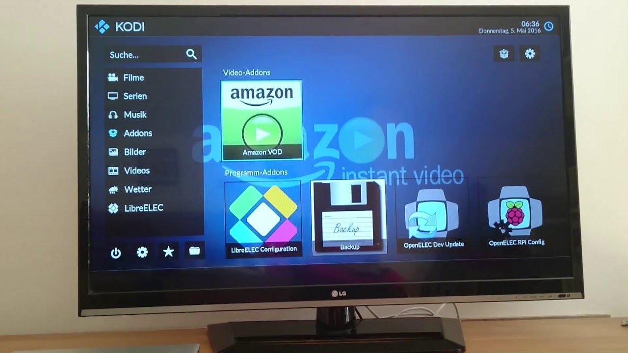 Amazon Prime Kodi Raspberry