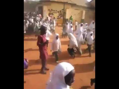 Primary Schools Pupils protesting in Kaduna over the sacking of their teachers