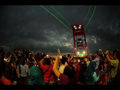 Time Lapse Video Drone, Total Solar Eclipse 2016 in Palembang.