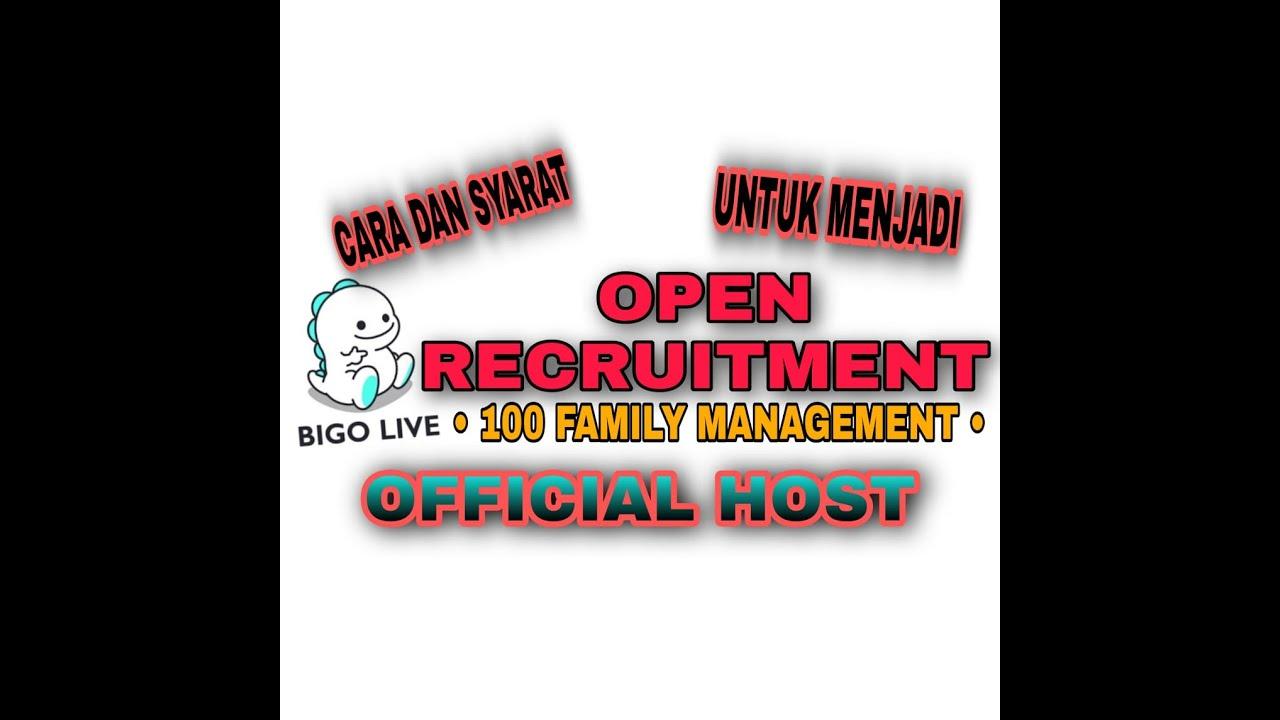 Cara Dan Syarat Menjadi Host Bigo Live Ninedec Channel Youtube
