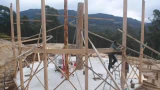 Round House Cordwood build time lapse