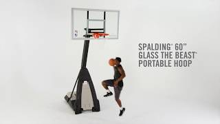 "Spalding The Beast Portable Basketball Hoop System - 60"" Glass"