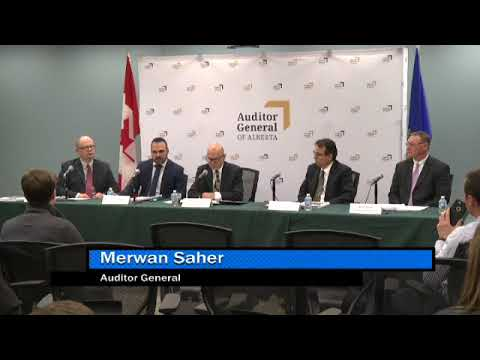 News Conference: Report of the Auditor General of Alberta - October 2017