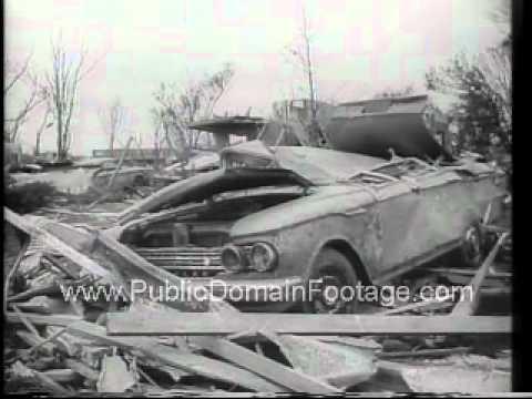 Tornado Leaves Topeka Kansas in Ruins 1966 Newsreel PublicDomainFootage.com