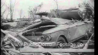Tornado Leaves Topeka Kansas in Ruins 1966 Newsreel PublicDomainFootage.com