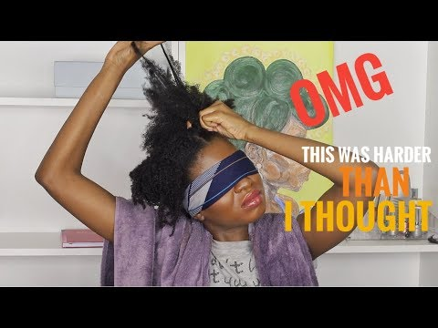 Creating a Hairstyle on my TYPE 4 HAIR BLINDFOLDED | This is NOT What I Expected thumbnail