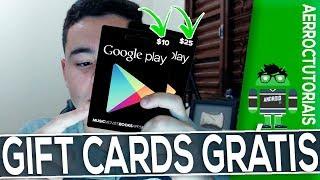 COMO GANHAR GIFT CARD GOOGLE PLAY DE GRAÇA - 2018