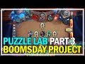 Hearthstone - Puzzle Lab Gameplay Let's Play Part 3 Lethal Dr. Boom - The Boomsday Project