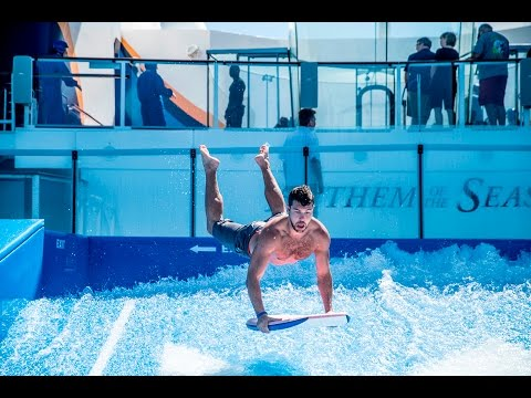 Surfing on the back of a Cruise Ship!