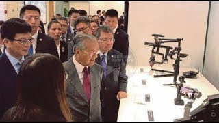 Dr Mahathir visits DJI facilities in China