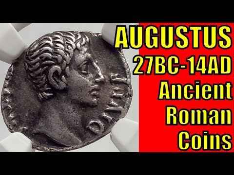 Roman Emperor AUGUSTUS 27BC 14AD Ancient Coins Collection an