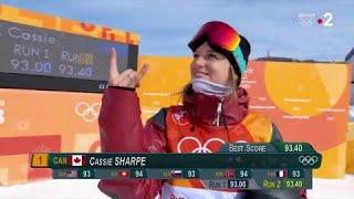 JO 2018 : Ski acrobatique - Half-pipe Femme : Cassie Sharpe survole les qualifications