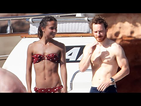Michael Fassbender and Alicia Vikander  Off Their Insane Bodies While Yachting in Spain!