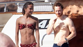 Michael Fassbender and Alicia Vikander Show Off Their Insane Bodies While Yachting in Spain!